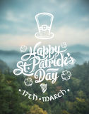 St patricks day greeting vector Royalty Free Stock Photography