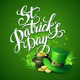 St. Patricks Day greeting. Vector illustration Stock Photos