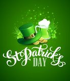 St. Patricks Day greeting. Vector illustration. EPS10 Vector Illustration