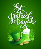 St. Patricks Day greeting. Vector illustration. EPS10 Royalty Free Stock Photography