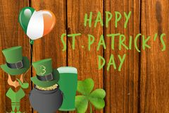 St patricks day greeting Royalty Free Stock Photo