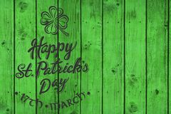 St patricks day greeting royalty free stock images