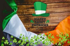 St patricks day greeting. On wooden background Royalty Free Stock Photo