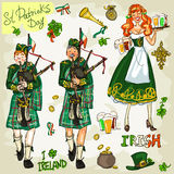 St. Patricks Day - hand drawn clip art collection Stock Photo