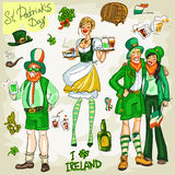 St. Patricks Day - hand drawn clip art collection Royalty Free Stock Photography
