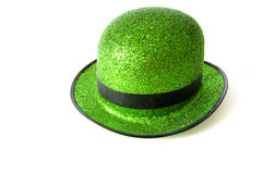 St. Patricks Day Hat. On a white background with copy space Royalty Free Stock Photography