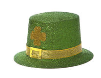 St. Patricks Day Hat. On a white background with copy space Stock Photography