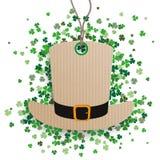 St Patricks Day Hat Price Sticker Shamrocks Royalty Free Stock Photos