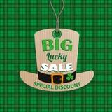 St Patricks Day Hat Price Sticker Tartan Stock Photos