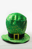 St patricks day hat. On wooden table Stock Images