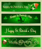 St Patricks Day headers or banners set Royalty Free Stock Photo
