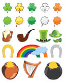 St. Patricks day icon set Royalty Free Stock Images