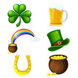St. Patricks Day Icon set Royalty Free Stock Image