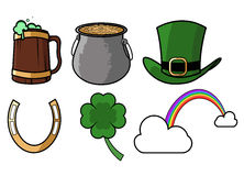 St patricks day icon set Royalty Free Stock Photos