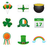 St. patricks day icons. Isolated on white background Stock Images
