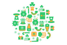 St.Patricks day Icons Royalty Free Stock Photos