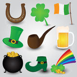 St. Patricks Day Icons Collection Stock Photos