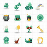 St patricks day icons with white background Stock Photography