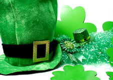 St Patricks Day Image. An image showing the concept of St Patricks Day with a green hat Stock Images