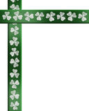St Patricks Day Irish Border shamrocks stock photo