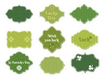 St patricks day labels Stock Image
