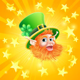 St Patricks day leprechaun background Royalty Free Stock Photos