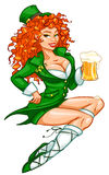 St. Patricks Day Leprechaun girl Royalty Free Stock Photography