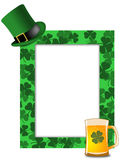 St Patricks Day Leprechaun Hat Beer Shamrock Frame Royalty Free Stock Images