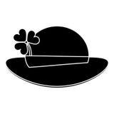 St patricks day leprechaun hat clover pictogram Stock Photography
