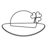 St patricks day leprechaun hat clover thin line Royalty Free Stock Photo