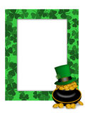 St Patricks Day Leprechaun Hat Pot of Gold Frame Royalty Free Stock Image