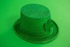 St Patricks Day leprechaun hat with shamrock Royalty Free Stock Images