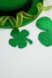 St Patricks Day leprechaun hat with shamrock Royalty Free Stock Photos