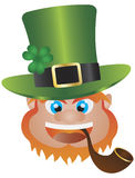 St Patricks Day Leprechaun Head Illustration Royalty Free Stock Photography