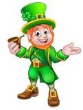 St Patricks Day Leprechaun Holding Pipe Stock Photography