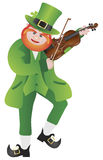 St Patricks Day Leprechaun Violin Illustration Stock Photos