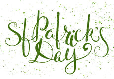 St. Patricks day lettering. Stock Images