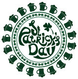 St. Patricks Day lettering Stock Photo