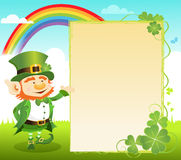 St Patricks' Day Message Royalty Free Stock Images