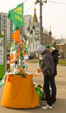 St. Patricks day in Moscow Royalty Free Stock Photo