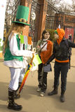 St. Patricks day in Moscow. MOSCOW - MARCH 15, 2014: Parade in Irish holiday St. Patricks day  in Moscow Stock Photo
