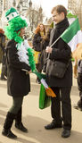St. Patricks day in Moscow Royalty Free Stock Image
