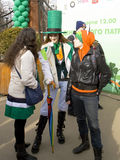 St. Patricks day in Moscow. MOSCOW - MARCH 15, 2014: Parade in Irish holiday St. Patricks day  in Moscow Royalty Free Stock Photos