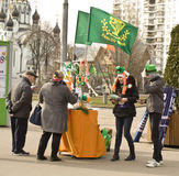 St. Patricks day in Moscow Stock Images