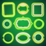 St Patricks Day Neon Banners. St Patricks Day glowing neon banners. Used vector brushes included royalty free illustration