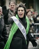St Patricks Day. NEW YORK, NY, USA - MAR 17: Miss New York at St. Patrick's Day Parade on March 17, 2013 in New York City, United States Stock Photo