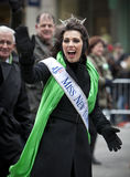 St Patricks Day. NEW YORK, NY, USA - MAR 17: Miss New York at St. Patrick's Day Parade on March 17, 2013 in New York City, United States Royalty Free Stock Images