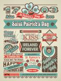 St. Patricks Day newspaper news Stock Images