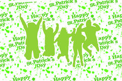 St Patricks Day Party Background Royalty Free Stock Images