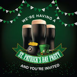 St. Patricks Day party invitation design Stock Image